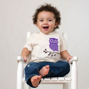 Image of Mimosa Owl Short Sleeve Organic Onesie/Tee