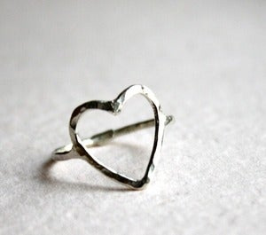 Image of Open Heart Ring- Sterling Silver