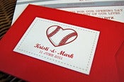 Image of Baseball Love Wedding Invitations