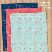 Image of Robot Love Printable Paper