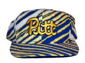Image of Vintage Zubaz Pittsburg Panthers Snapback Hat