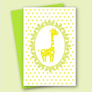 Image of Giraffe Card