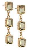 Image of Kara Ackerman <i> Judie <i/> Emerald Cut 3 Drop Lemon Quartz Earrings