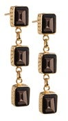 Image of  Kara Ackerman <i> Judie <i/> Emerald Cut 3 Drop Smokey Topaz Earrings