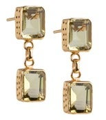 Image of Kara Ackerman <i> Judie <i/> Emerald Cut 2 Drop Lemon Quartz Earrings