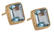 Image of Kara Ackerman <i> Judie <i/> Emerald Cut Stud Blue Topaz Earrings