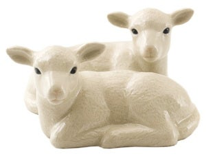 Image of LAMB SALT AND PEPPER SHAKERS