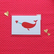 Image of 'Narwhal Cupid' card