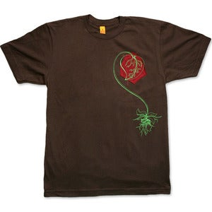 Image of I ♥ NATURE - men's brown t-shirt