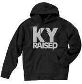Image of Ky Raised Black / Grey Hooded Sweatshirt