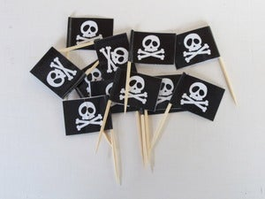 Image of Black Pirate Skull Flags