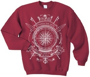 Image of Arcade X XCVB - Deep Blue Devil Sweater - Maroon