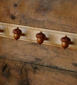 Image of Farmhouse Acorn Hanger..4 hook