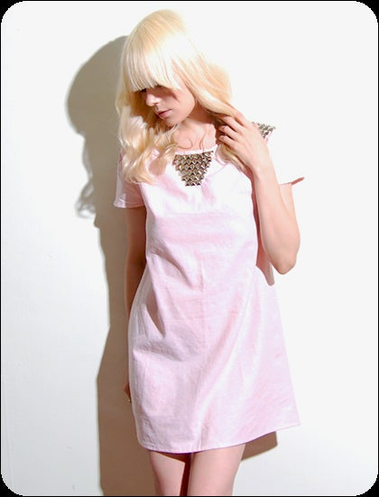 pretty please dear — snoozer loser - the winona :  pink snoozer loser dress shoulder