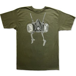 Image of RESPIRATOR - men's military green t-shirt
