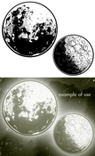 Image of Moons Vector Pack