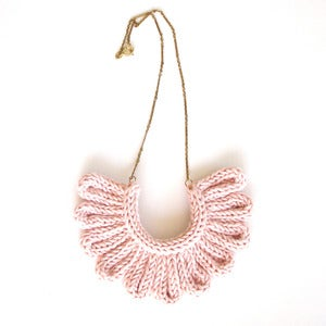 Image of Hawk Necklace, hand-knitted - Pale Pink