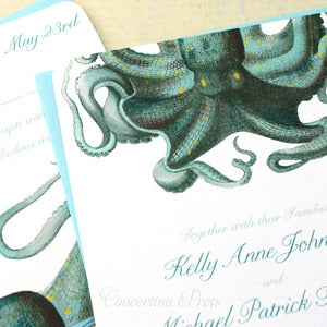 Image of Octopus Wedding Invitation - Sample