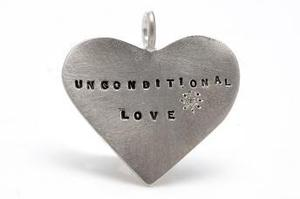 Image of Silver Unconditional Love with diamond charm