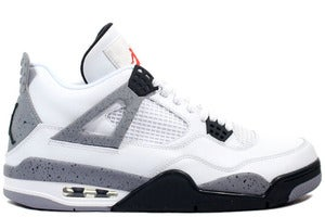 Image of Air Jordan Retro 4 - White/Black-Cement Grey