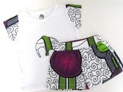 Image of TILI BWINO kids T-shirt and kids short sets PENDA print