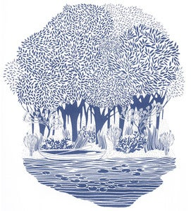 Image of Lily Pond - Limited Edition Silk Screen Print