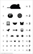 Image of 12&quot; x 19.5&quot; Cat Eye Chart - Classic Size Poster