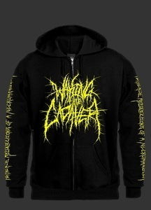 "Image of Waking The Cadaver ""Perverse Recollections Of A Necromangler"" Zipper Hoodie"