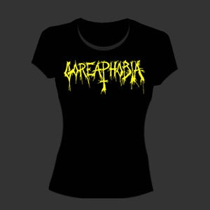 "Image of Goreaphobia "" Yellow Logo "" Girls T shirt"