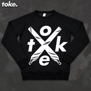 Image of Toke - Crossed Joints Crew-neck