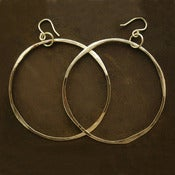 "Image of 14K Hoop Earrings- Yellow Gold Hand Forged 2 "" Diameter"