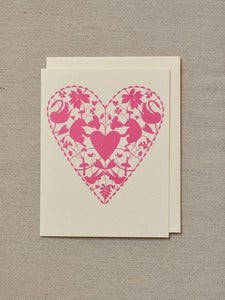 Image of Doily Card - Bears, swans and birds with love