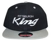 Image of Pittsburgh King x American Needle snapback gry/blk/gry
