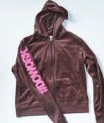 Image of DO WORK. Velour Suit (Brown & Pink)