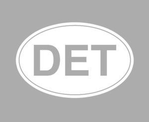 Image of DET Detroit Car Decal