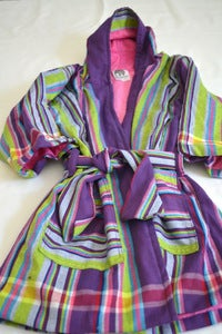Image of Purple stripe Kenyan Kikoi Kids Dressing gown