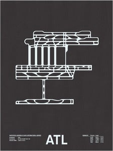 Image of ATL: Hartsfield-Jackson Atlanta International Screenprint