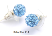 Image of Baby Blue Swarovski Elements Disco Ball  Stud Earrings
