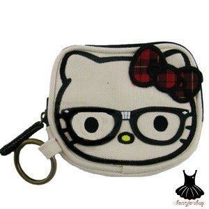 Image of HELLO KITTY NERD COIN BAG