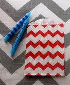 Image of Red Mini Chevron Treat Bags