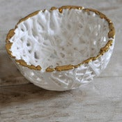 Image of Tangled Web Small Bowl with Gold rim