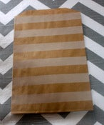 Image of Kraft Striped Treat Bags