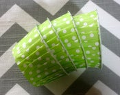 Image of Lime Green Dots Candy Cups