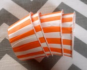 Image of Orange Stripe Candy Cups