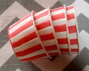 Image of Red Stripe Candy Cups