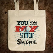 Image of You Are My Sunshine - Bull Denim Tote Bag / Natural
