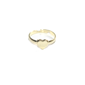 Image of Cute Gold Coloured Love Heart Ring