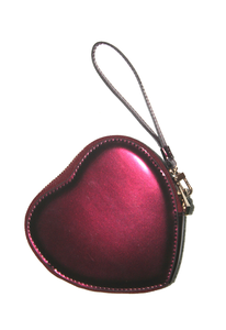 Image of Elegant Red Wine Love Heart Clutch Bag
