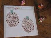Image of Bubble piece Champ de fleurs rouges et jaunes