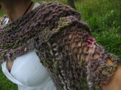 Image of MONKEY WRAP - knitting/crochet pattern